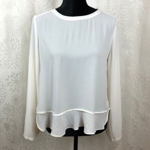 Loft blouse peplum cream size MP